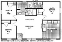 Sectional Mobile Home Floor Plan 6668
