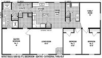 Sectional Mobile Home Floor Plan 6879