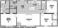 Sectional Mobile Home Floor Plan 6611