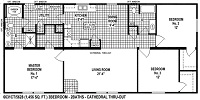 Sectional Mobile Home Floor Plan 6631