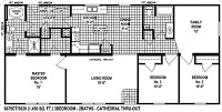 Sectional Mobile Home Floor Plan 6679
