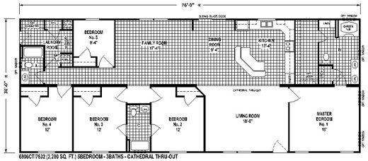 Sectional Mobile Home Floor Plan The 6806 Spring View Select