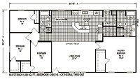 Sectional Mobile Home Floor Plan 6847