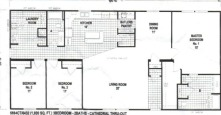 Sectional Mobile Home Floor Plan 6884