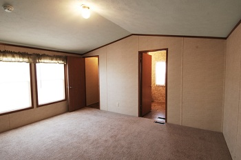 single wide mobile home master bedroom