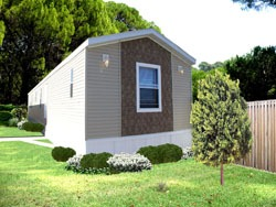 single wide mobile home outside picture