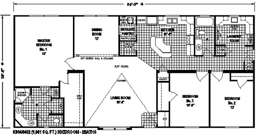 Manufactured Home Floor Plan The K984 Hampshire Elite
