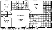 Sectional Mobile Home Floor Plan 6612