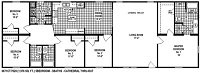 Sectional Mobile Home Floor Plan 6671