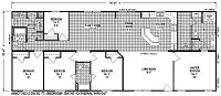 Sectional Mobile Home Floor Plan 6806
